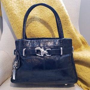 Lanzetti Genuine Leather Patent Shoulder Bag